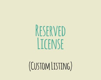 Booxie reserved license