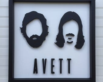 The Avett Brothers Sign, The Avett Brothers, The Avett Brothers Art, The Avett Brothers Wood Sign, The Avett Brothers Silhouette Sign
