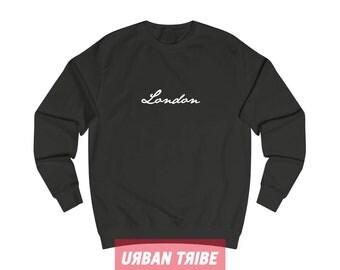 London Sweatshirt, Black Sweatshirt, White Sweatshirt, Unisex Top, Unisex Sweatshirt, 90s Hip Hop, Streetwear, Streetdance, Urban Tribe™ 003