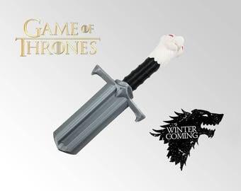Game of Thrones Longclaw Sword Baby Rattle - Jon Snow