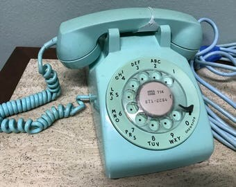 Mint Green Bell System Rotary Telephone Made by Western Electric