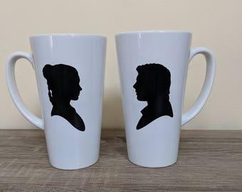 Star Wars Han Solo and Princess Leia 17oz  Latte Mug