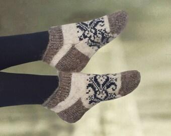 Winter women's socks, Ankle knit socks, Knitted merino socks, Winter socks women, Warm wool socks, Christmas gift,  Gift for gramma