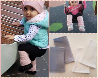 Fleece leg warmers - leg warmers - baby leg warmers - girls leg warmers