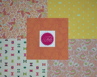 NEW Spirit Animal Orange FQ Bundle by Tula Pink