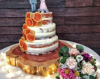 wood slab for wedding cake wood cake stand etsy 27613