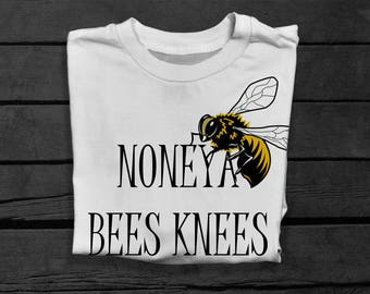 Bees Knees T-shirt for Men - Worker Bee Shirt - Funny Bee T-shirt - Bee Keeper Gifts - Joke T-shirt for Him - Gifts for Dad