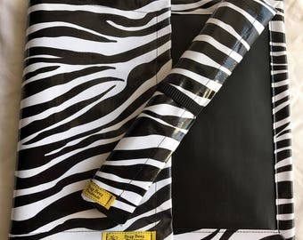 Roll up Chalk Mat, zebra stripe chalkmat, rollup chalkmat, roll up chalk mat, blackboard mat, travel toy
