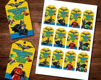 Batman Lego Birthday Thank you Cards, Birthday, For Kids, Party Thank you Cards, Digital Download