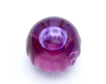 Purple Transparent Bubble Art glass Orb or Glass Paperweight, No Bubbles and resembles a Jellyfish
