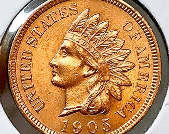 1905 Indian Head Cent - Gem BU / MS RD / Unc