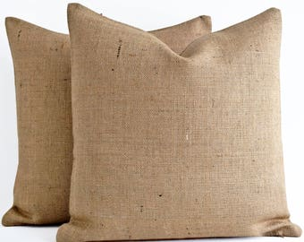Burlap pillow covers Etsy