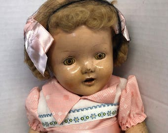 Antique Doll Open and Close Eyes