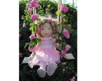 Waldorf,Waldorf doll,doll Rose,organic waldorf doll,natural materials