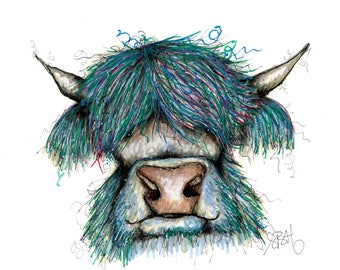 Hairy Blue Cow