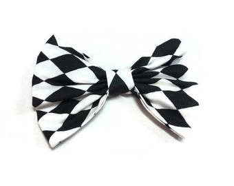 Bow tie dog men matching , black white diamond bowties for dog accessories , ring bearer outfits