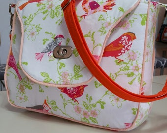 Sweet Birds Satchel/Purse (made in USA)