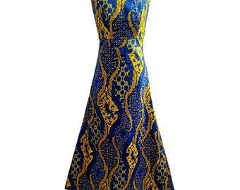 African clothing, african dress, ankara dress, african print, wax pring, african clothing ( MARIE A-line dress)