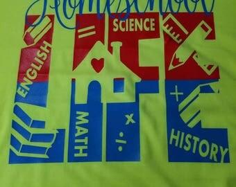 Kids homeschool life t-shirt