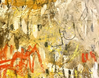 Original Abstract Art on Wood, modern home decor, expressionism