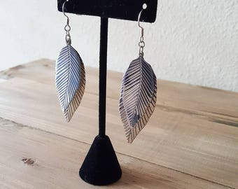 Sterling Silver Leaves Earrings | Leaf Earrings. Leaves Jewelry for Her | Gift idea for Her. Valentines Day Gift Ideas for Mom Girlfriend
