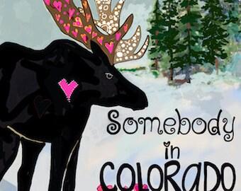 Handmade Greeting Card,Somebody In Colorado Loves You! Greeting Card, Made in Colorado, Card with Birds, 5x7 Card