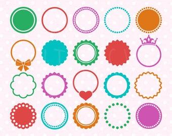 Circle monogram frames svg, Circle monogram frame svg pack, Circle monogram svg, Monogram frame svg, digital download svg dxf, eps, svg file