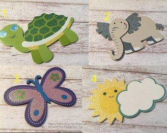 Painted Wooden Shapes, Glitter Wooden Shapes, Wood Animals, Wood Shapes, Child's Room, Decorations, Craft Supplies, Brand New, Unused