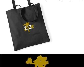 U2 t shirt TOTE COTTON Bag BEACH Bag