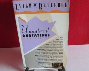 "Leigh W. Rutledge's  ""Unnatural Quotations"""
