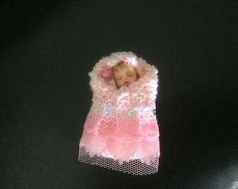 Polymer Clay Newborn Bundle Baby Girl Miniature Part Sculpt Doll - Handmade by Sue Radford