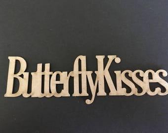 """Laser cut Chipboard """"butterfly kisses"""""""