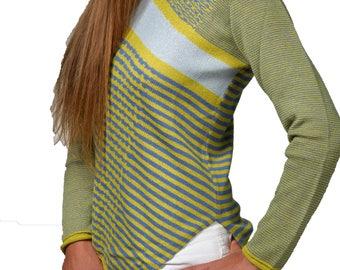 Diagonal Stripes Sweater