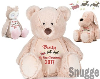 Christmas gift baby etsy my first christmas personalised embroidered bear christmas gift baby girl baby boy negle Image collections