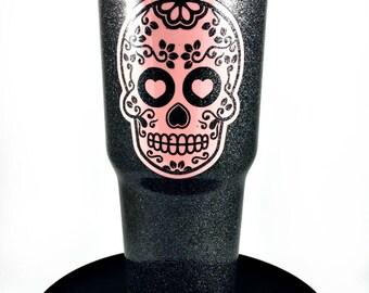 Sugar Skull Yeti Etsy - Sugar skull yeti cup