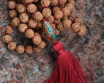 108 bead Rudraksha Mala