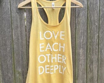 Love Each Other Deeply Tank