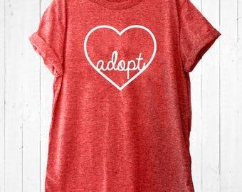 Adopt Heart Shirt Red - Love Adoption