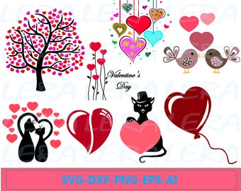 60 % OFF, Valentine Day Svg, Heart svg, png, eps, dxf, Cutting File Design,Valentines Hearts svg,  Hearts SVG Cut files, Silhouette Love SVG