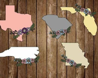 State floral decal