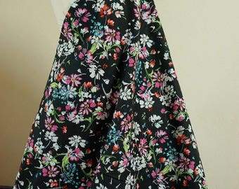 Fabric cotton flowers 50cmx140cm