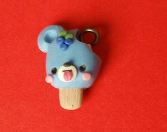 Blue berry popcicle bear