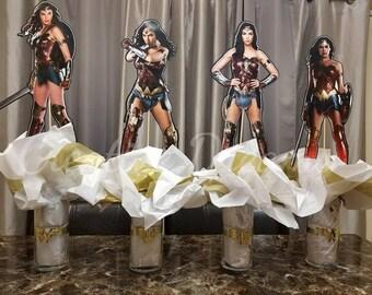 Wonder Woman Party Centerpieces