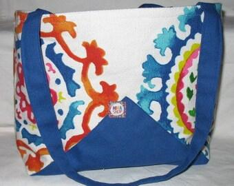 Bag shape bucket handles, 2 lovely cotton canvas