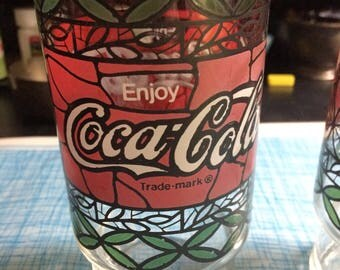 Vintage Coca-Cola glass set of 2
