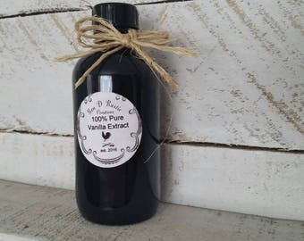 Pure Organic Vanilla Extract-Madagascar Bourbon Vanilla Beans-Organic Vanilla for Baking-100% Vanilla Extract-Gifts for Her-Homemade-Endless