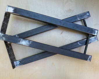 """HAIRPIN INDUSTRIAL table or bench legs 20"""" tall X 8"""" wide.  Set of 2."""