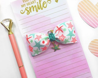 Starfish Planner Charm/ Planner Charm / Bow Planner Charm