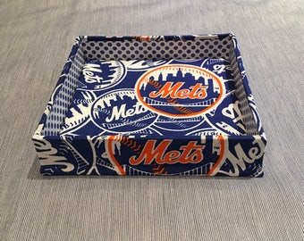 Catchall Tray (Square) Made w/ NY Mets Fabric