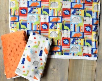 Dinosaur Burp Cloth Set